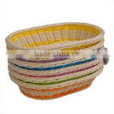 Handmade bamboo weaving basket egg crate/sundry snacks receive basket /fruit food vessels