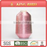 Metallic yarn embroidery thread pure silver metallic thread for embroidery for wedding dress