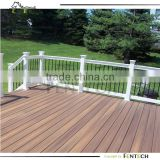 Vinyl decking with pvc railing