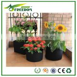 Plant Fiber,non-woven fabric Material and Grow Bags Type Plastic black nursery pot