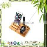 Aonong Bamboo Watch Stand & Cell Phone Charging Station Bamboo Holder