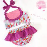 Balloon pattern baby swimwear cotton bikini ruffle bloomer summer beach wear