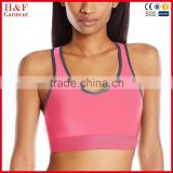 Women's Mid Impact Active Sports Bra Control Double Criss Cross