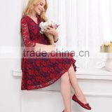 wholesale maternity clothes 3/4 sleeve knee lenght casual pregnant women dresses