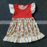 newest arrival white dot girl dress baby full sizes clothes with lace online sale