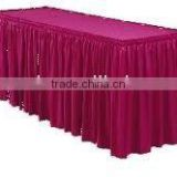 Polyester table skirts table skirting banquet table skirting wedding table skirts table linen