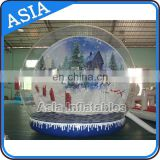 Christmas Promotion Giant Inflatable Human Snowglobe/Inflatable Custom Made Snow Globe/party Inflatable Snowglobe