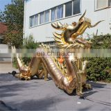 customized giant outdoor chinese style golden dragon inflatable