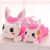 cute papa rabbit plush stuffed toy sofa cushion