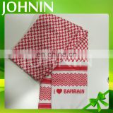 Wholesale Custom Design Soccer Fans Polyester Peach Skin Football Fan Scarf