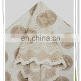 beige women african big swiss voile lace fabric in switzerland