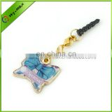 Zinc Alloy Butterfly 3.5mm Earphone Jack Dustproof plug