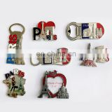 2018 France Paris Souvenir Cutomized Metal Bottle Opener And Fridge Magnet