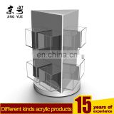 Clear pmma plexiglass rotating menu holder document holder acrylic rotating brochure display holder