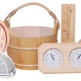 wooden bucket/spoon/timer/anti-explosion lamp for sauna room accessories