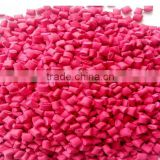 Recycled /Virgin HDPE/LDPE /LLDPE Granules with rose color Masterbatch for film and pipe.
