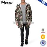 Custom Hood Long Digital Camo Rain Jackets For Men                                                                         Quality Choice