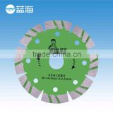 114mm Green Stone Corrugated Cutter Diamond Circular Saw Blade for Stone Granite Concrete