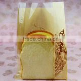 poly bag suppliers logo decoration food\tea\bread packaging materials craft paper bag with window