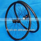 FLX-WS-CW010 Full Carbon 3K 29ER Mountain MTB Bike Bicycle Clincher Wheelset 25mm - Rim + Spokes + hub + Brake Pads + QR skewers