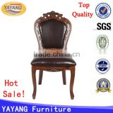 easy antique indian luxury leather seat copper nail royal baby connection high chair wooden