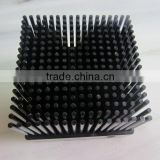 Low price customized black anodized 1070 aluminum cold forging pin fin heatsink (cold forging heatsink)