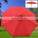 red color patio umbrella replacement canopy