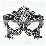 new fashion black butterfly bleach hollow mask for dance ball with crystal and rhinestone