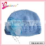 Girl cute beanie hat baby products wholesale in China bob hat with flower decoration