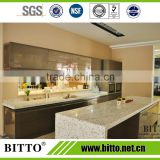 High quality white sand artificial quartz stone countertop vanity top