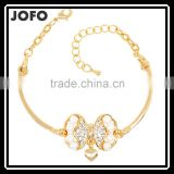 Jewelry Charm Fashion Gift Bow-knot Pearl Rhinestone Gold Plated Bracelet