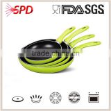 High quality 4 pcs green eco fry pan set prestige cookware Nonstick with Bakelite Handle