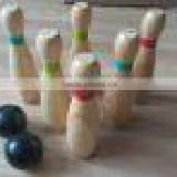 2016 HOTEST SALES wooden bowling set ,garden games,