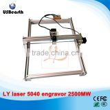 LY 5040 2500MW laser cutter Blue Violet Laser cutting Machine Mini DIY Laser Engraver IC Marking Printer laser engrave machine