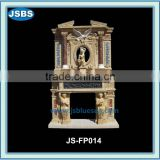 Human and animal statue marble fireplace
