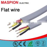 Twin flat wire ce rohs with earth wire 3 CORE pvc insulated copper wire or CCA wire electrical wire