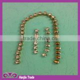 Hot Sale Crystal Rhinestone and pearl brass Round Cup Chain
