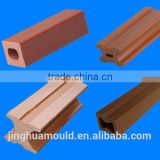 China manufacturer PE/PP WPC handrail decorative exterior moulding