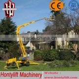 8 m CE cheap sale china diesel engine towable telescopic boom lift workform/aerial working boom lift/arm lift/sky lift