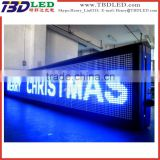 led programmable scrolling message sign board/led scrolling moving message billboard sign,indoor/outdoor led display screen