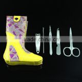 Colorful Unique Boots Design Case Manicure Pedicure Kit