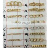 Fancy a variety of aluminum chain,Aluminum chain bracelet clothes and shoes necklace decorative.2015 fashion accessories