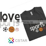 I love soprts Bling Glitter Hot Fix OEM service For Tshirt Motif