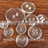 Factory direct sale resin buttons two eyes and four eyes transparent bread button DIY button