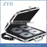 128 CD DVD Capacity Aluminum Cheap CD DVD Cases With Lock ZYD-HZMdc006