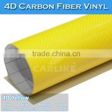 SINO Factory New Type Yellow Professional Scratch Resistant Decoration Vinyl 4D Carbon Fiber Sheet