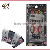 3d crystal cell phone stickers/acrylic mobile phone stickers/diamond sticker case for phones