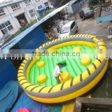 amusement park supplies inflatable rodeo bull/ mechanical bull inflatable bull ride