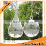 Clear Hanging Glass Candle Holder Round, Glass Plant Terrarium