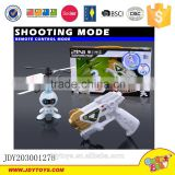 Popular 2016 hot sell dual mode remote control spaceman toys gun shooting mode